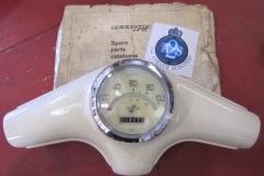 Custom Lambretta S1 speedometer trim rings